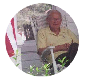 Hugh Harris at his home, 4th of July 2014